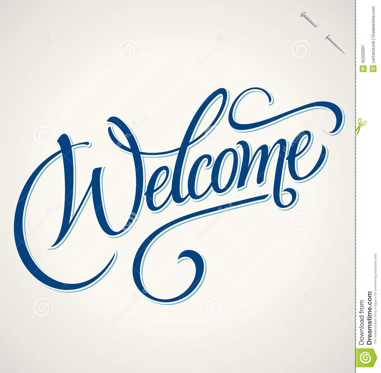 Welcome hand lettering vector stock