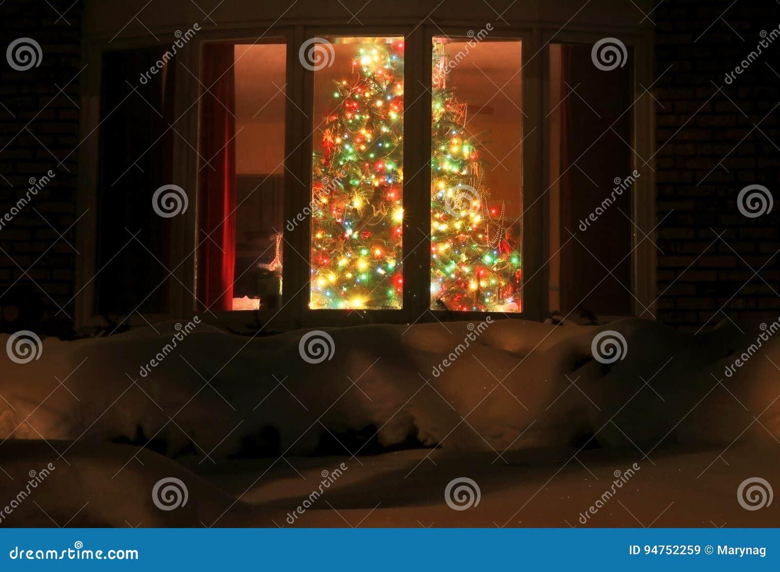 Welcome Home Christmas Tree Stock Image Image Of Snow