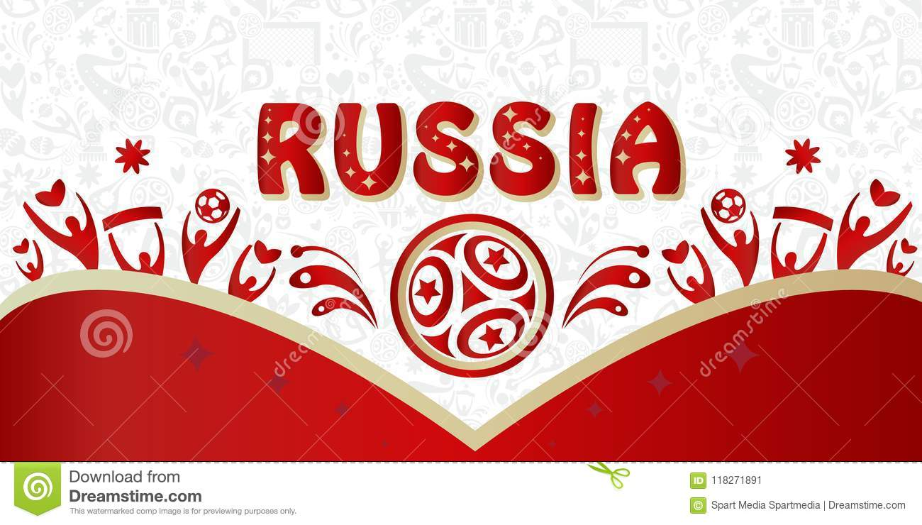 Football 2018 Russia World Cup Soccer Stock Vector