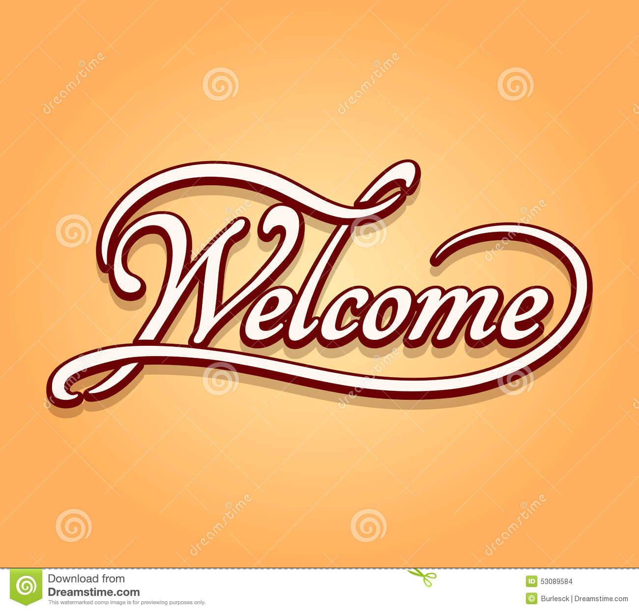 Welcome lettering calligraphy stock vector image