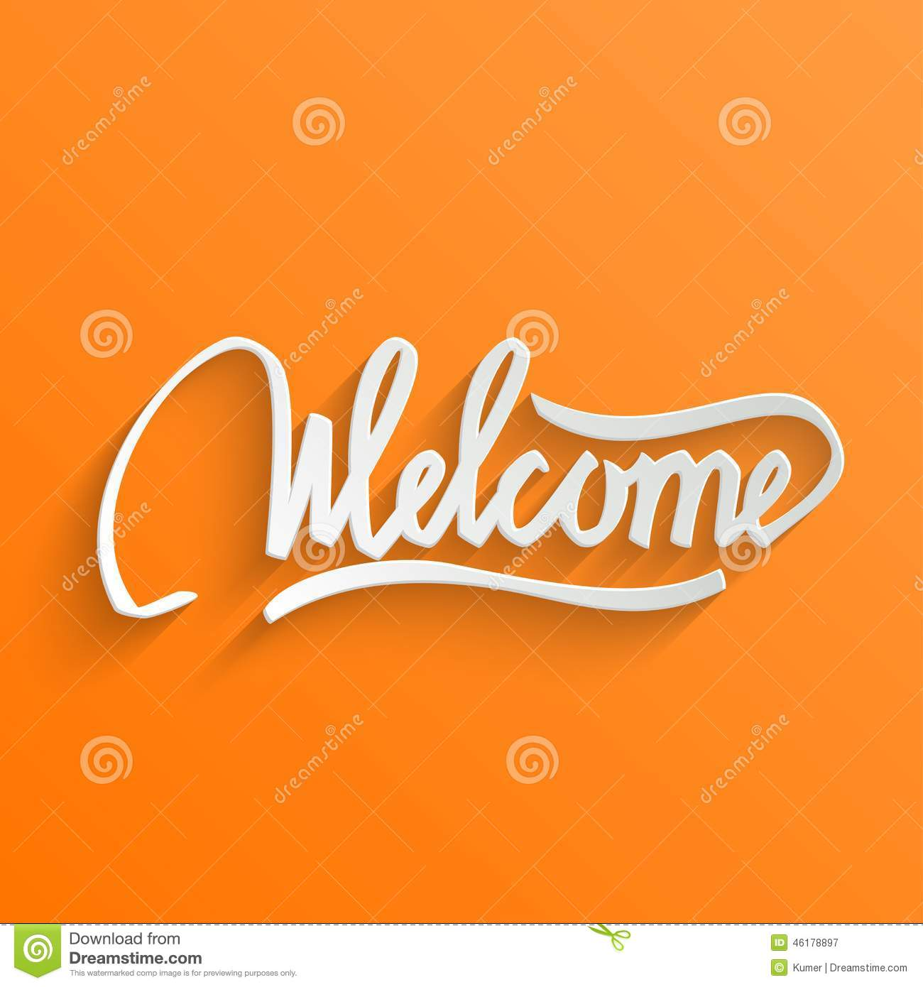 Welcome lettering greeting card stock vector illustration of welcome lettering greeting card m4hsunfo