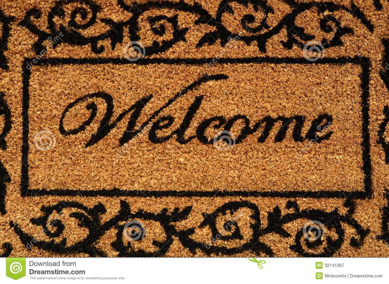 Welcome Mat Background Royalty Free Stock Photography