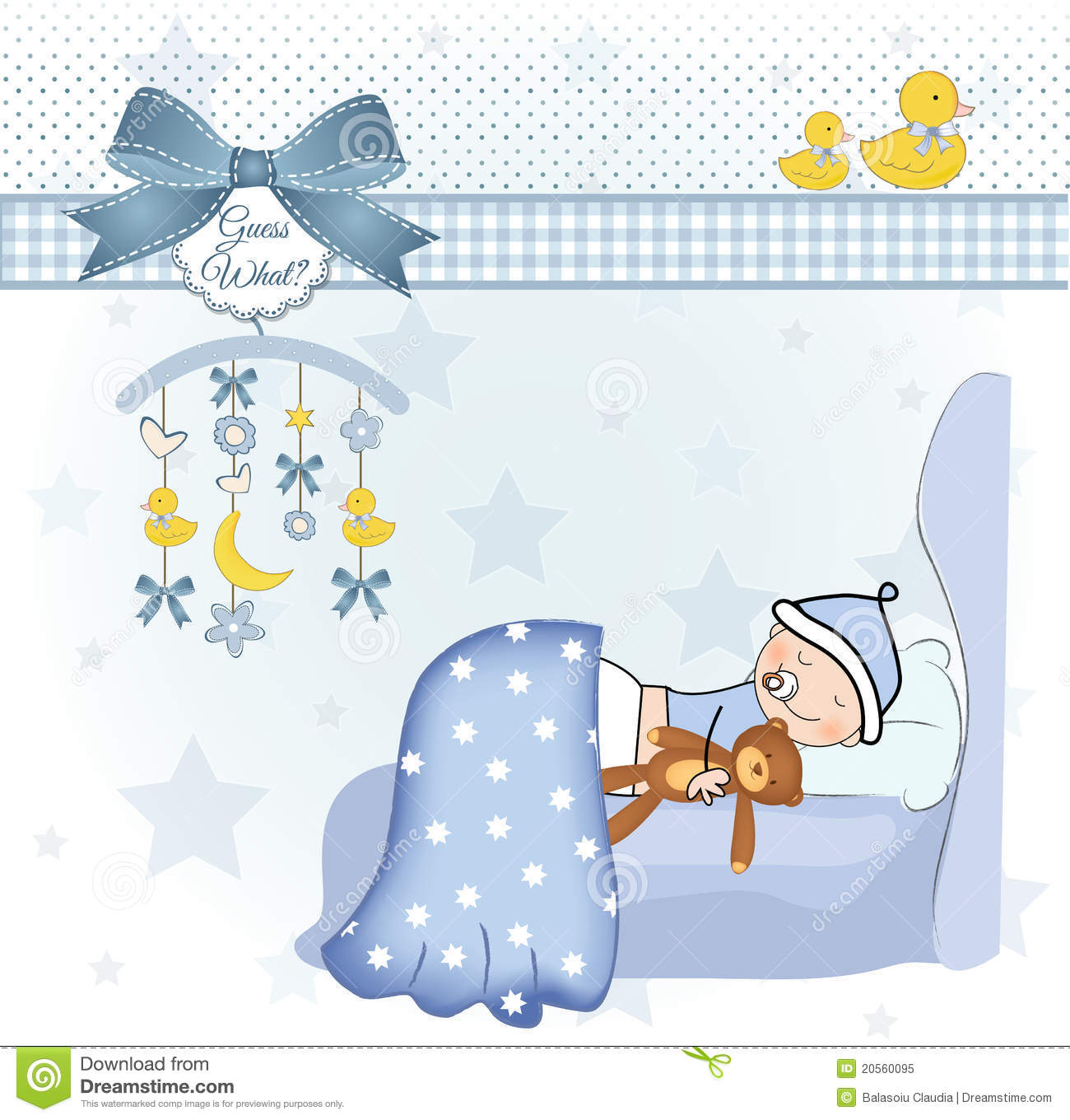 Welcome new baby boy stock vector. Illustration of card ...