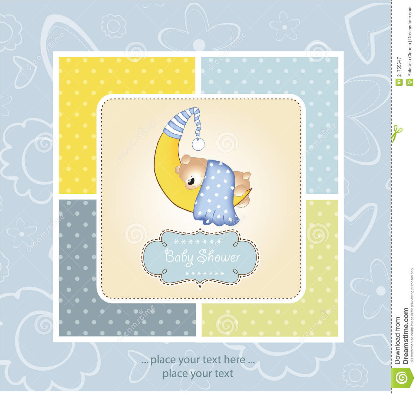 Welcome new baby boy stock illustration. Image of banner ...