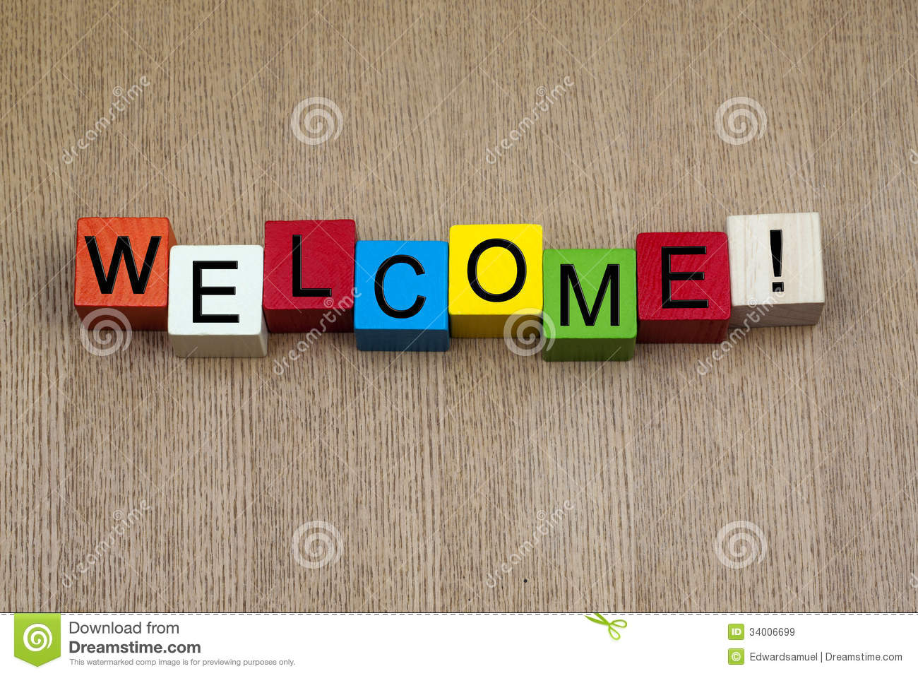 Welcome - Sign Royalty Free Stock Images - Image: 34006699
