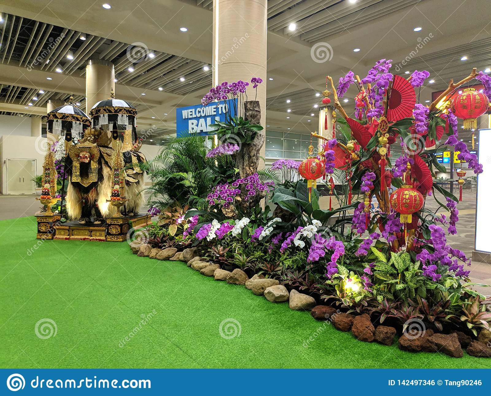 Welcome Sign To Bali In Ngurah Rai International Airport Editorial Photo -  Image of airways, sign: 142497346