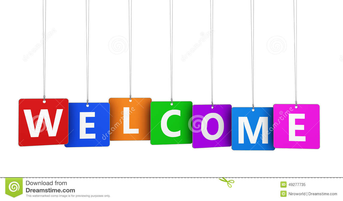 Welcome Sign Stock Illustration Illustration Of Concept 49277735