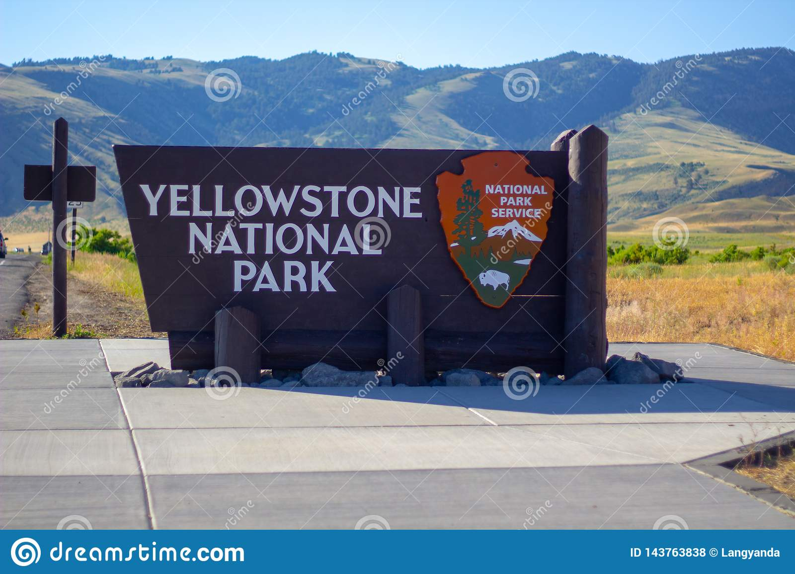 Welcome Sign at Yellowstone National Park