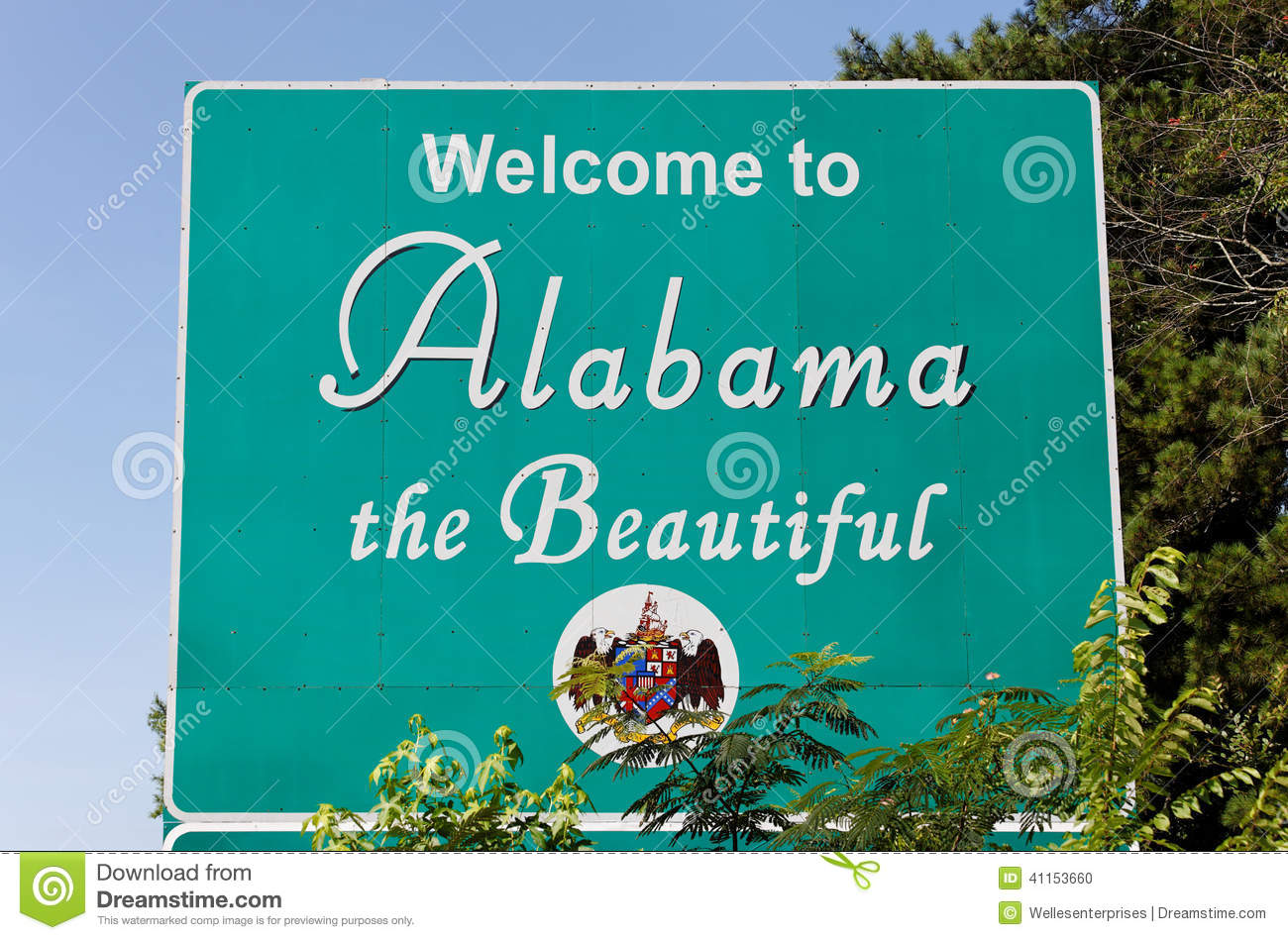 Welcome To Alabama Stock Photo - Image: 41153660