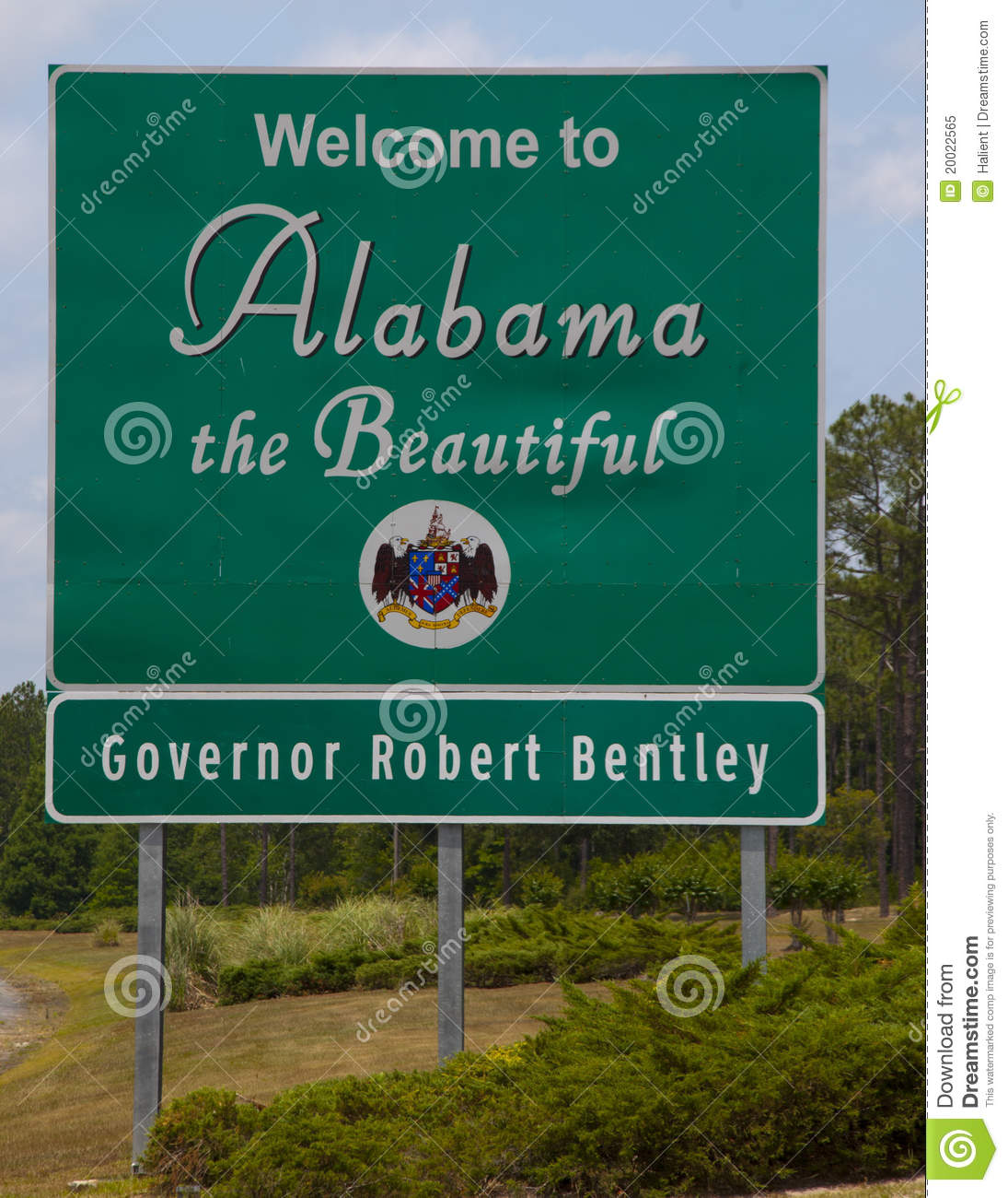 Welcome To Alabama W Governor Editorial Image Image