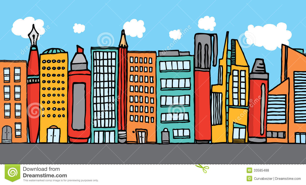 city buildings clipart - photo #41