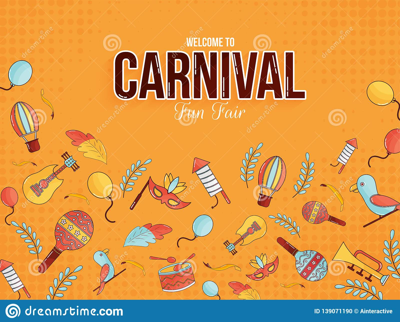 Welcome to carnival fun fair poster or banner design.