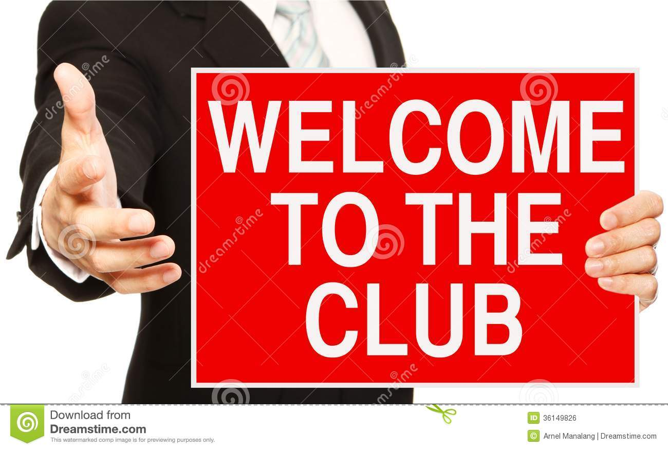 Welcome To The Club Royalty Free Stock Image - Image: 36149826