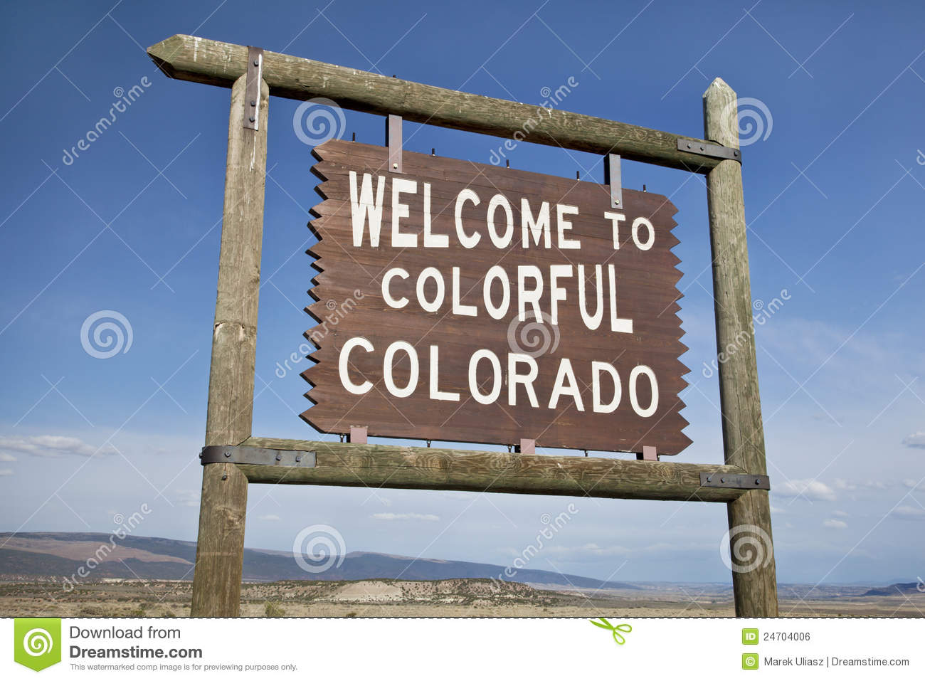 welcome to colorado roadside sign royalty free stock image