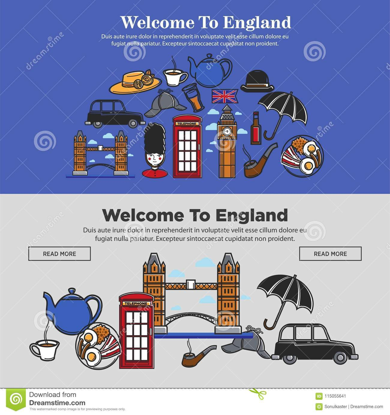 Welcome to england promotional banner with national symbols welcome to england promotional banner with national symbols ccuart Choice Image