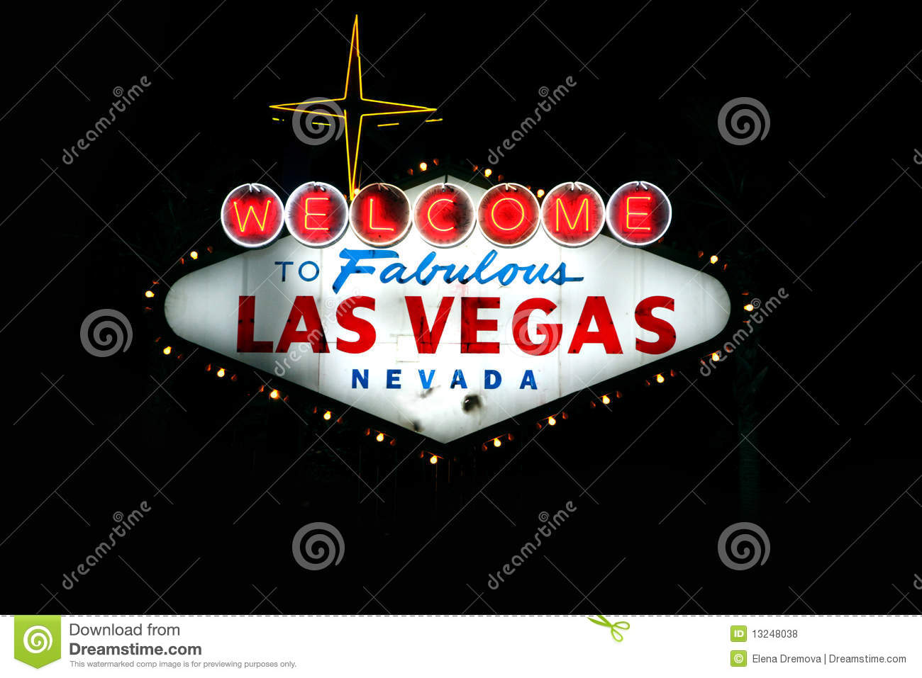 welcome to fabulous las vegas nevada at dusk royalty free stock photos image 13248038. Black Bedroom Furniture Sets. Home Design Ideas