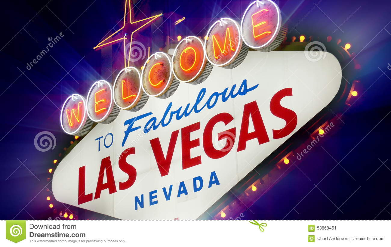 Stock footage welcome to fabulous las vegas sign with flashing lights - Welcome To Fabulous Las Vegas Nevada Sign Loopable Stock Video Video 58868451