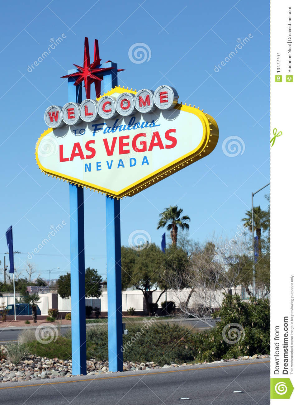 welcome to fabulous las vegas sign royalty free stock photography image 13472707. Black Bedroom Furniture Sets. Home Design Ideas