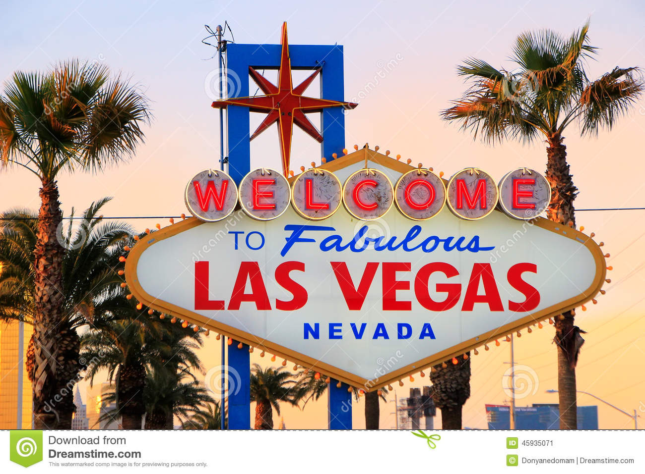 Stock footage welcome to fabulous las vegas sign with flashing lights - Welcome To Fabulous Las Vegas Sign At Night Nevada Stock Image