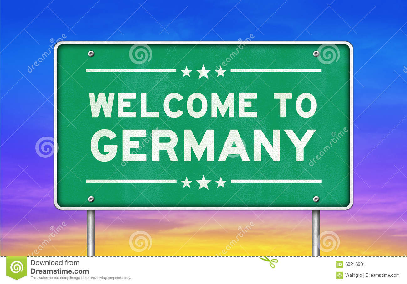 welcome to germany stock illustration illustration of