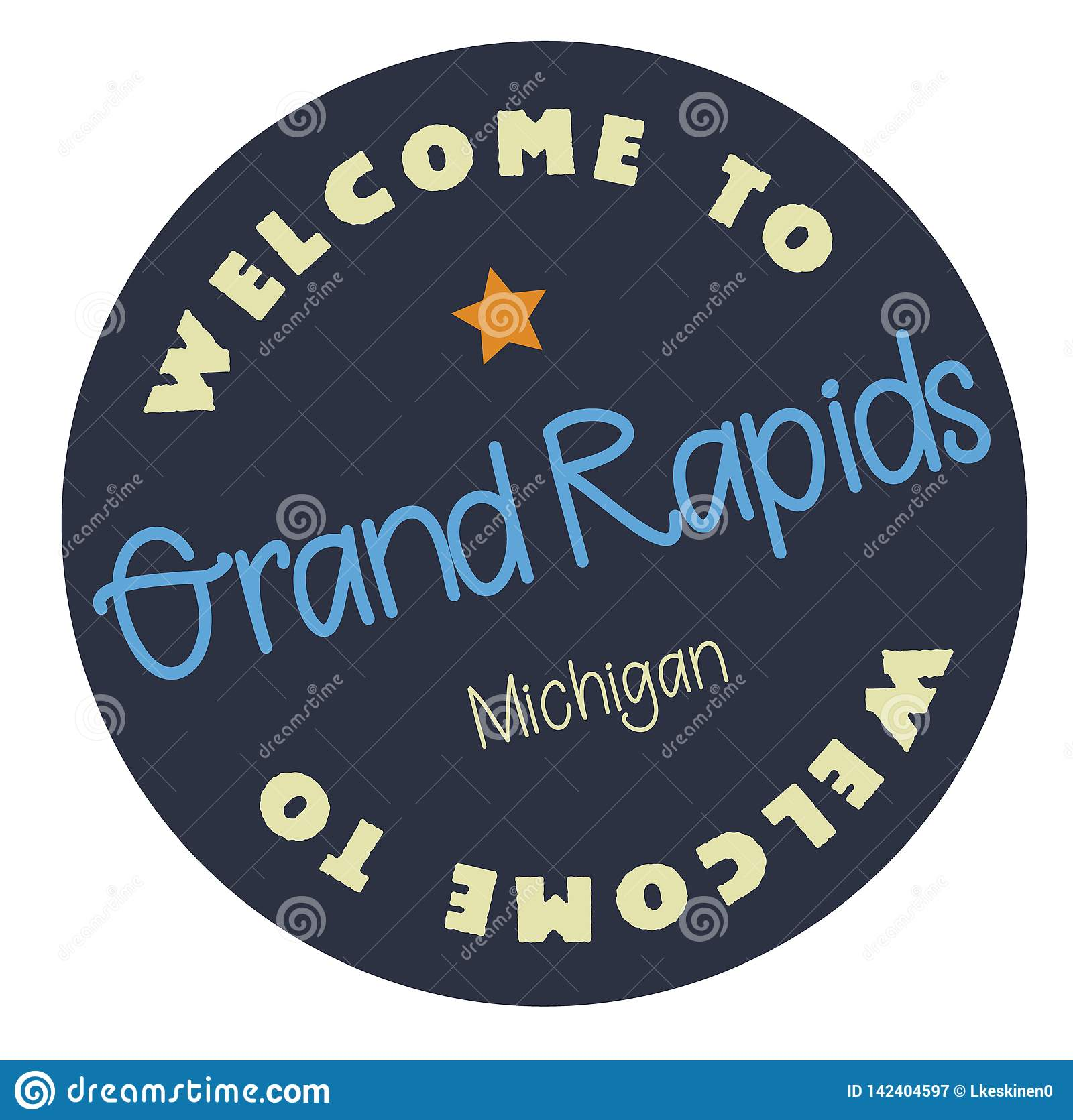 Welcome To Grand Rapids Michigan Stock Vector