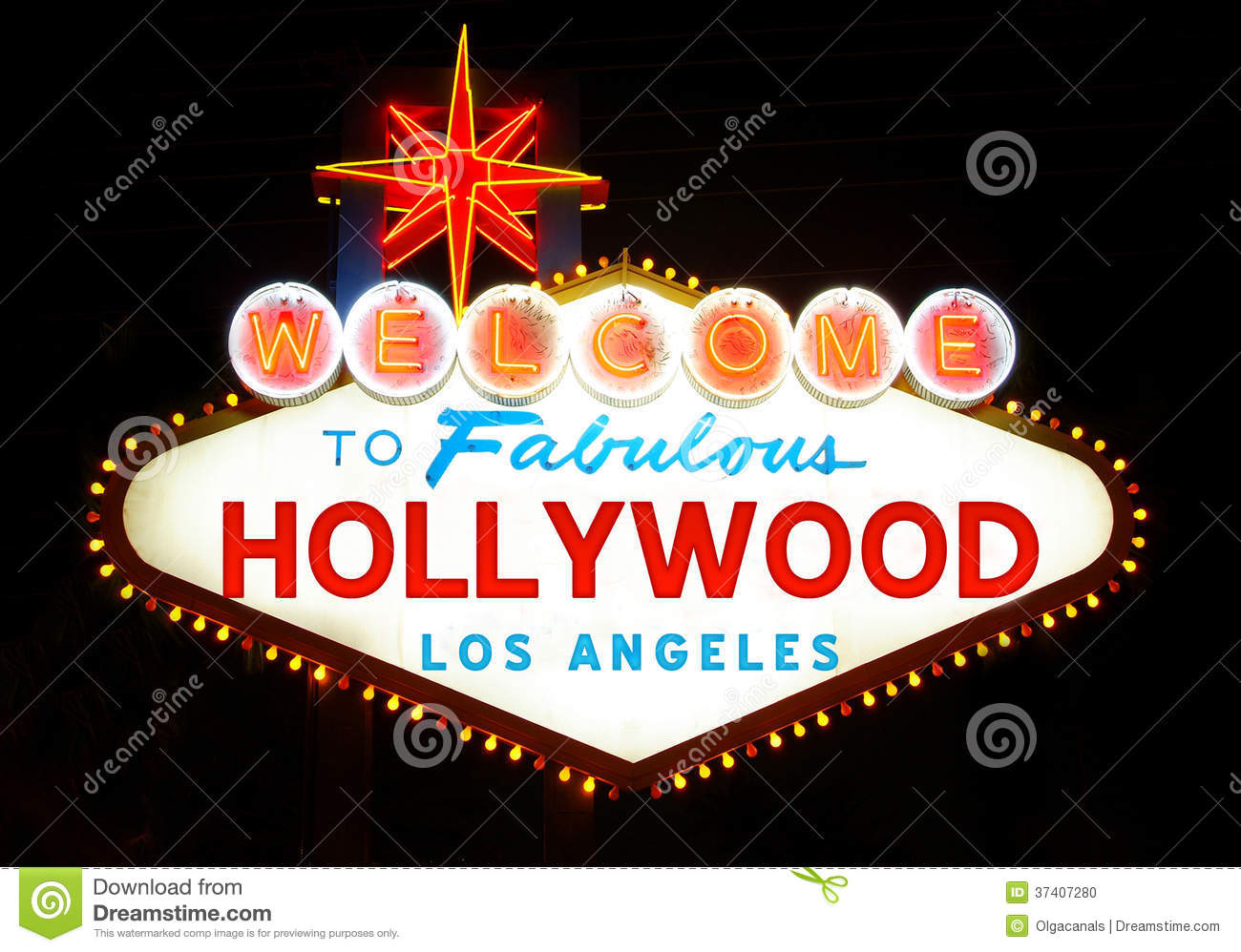 wel e to hollywood sign stock photo   image 37407280