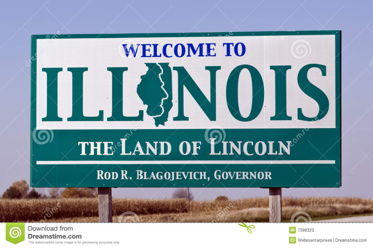 Welcome To Illinois Editorial Stock Photo - Image: 7398323