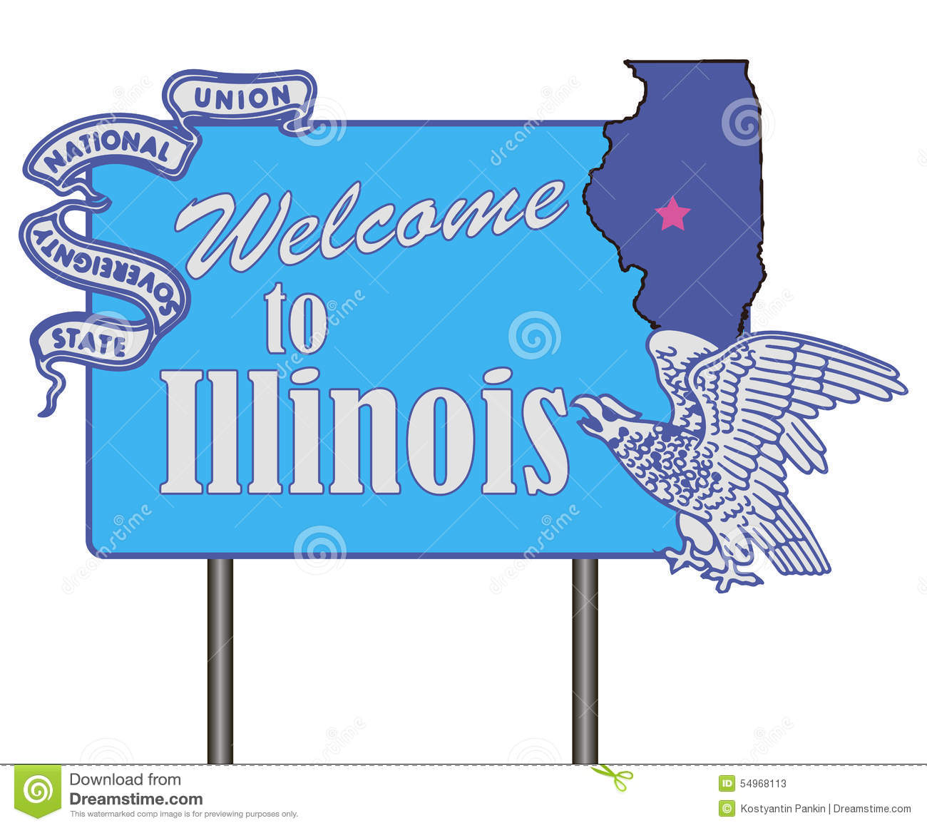 Welcome to illinois stock vector illustration of directory 54968113 welcome to illinois buycottarizona Images