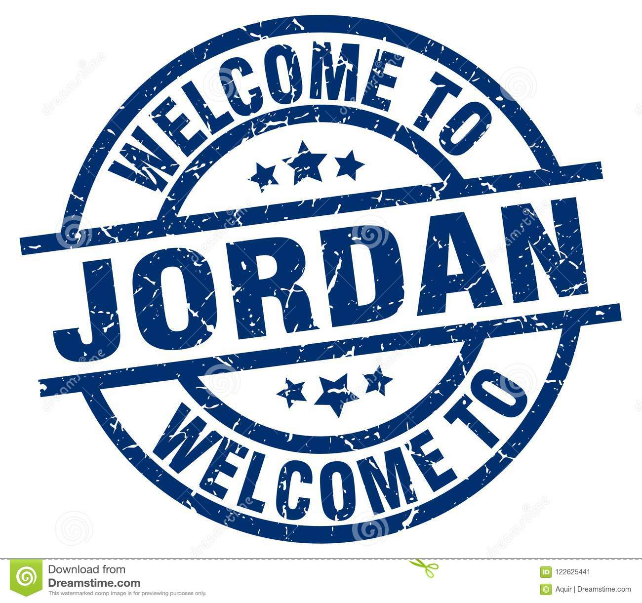 Welcome To Jordan Stamp Stock Vector Illustration Of Badge 122625441