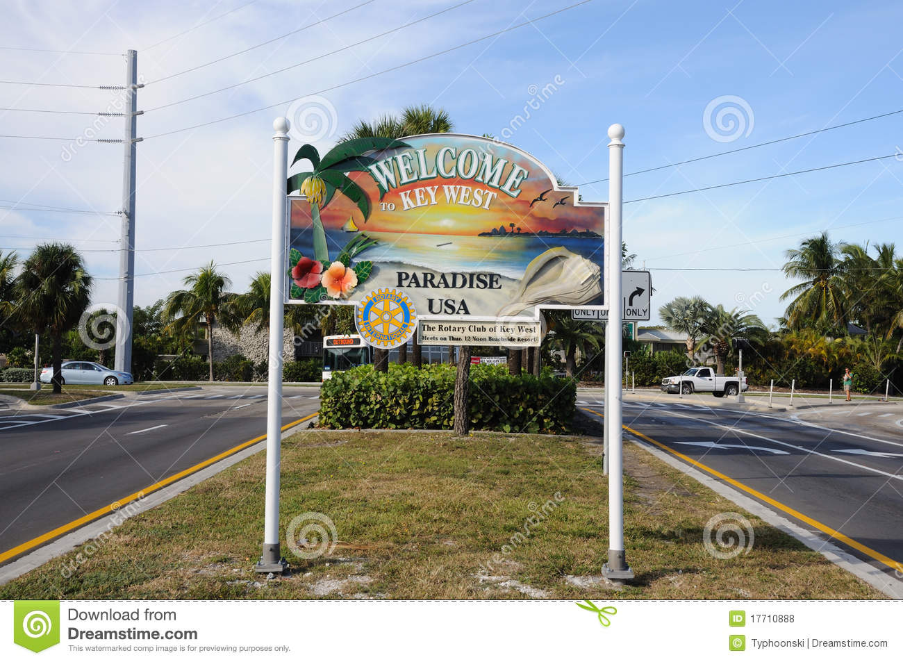 Welcome To Key West, Florida Editorial Stock Photo - Image ...