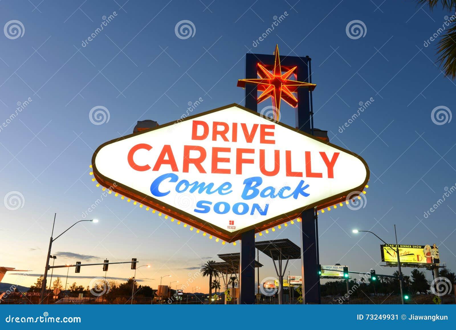 come back soon las vegas sign at sunset stock photography 5974436. Black Bedroom Furniture Sets. Home Design Ideas