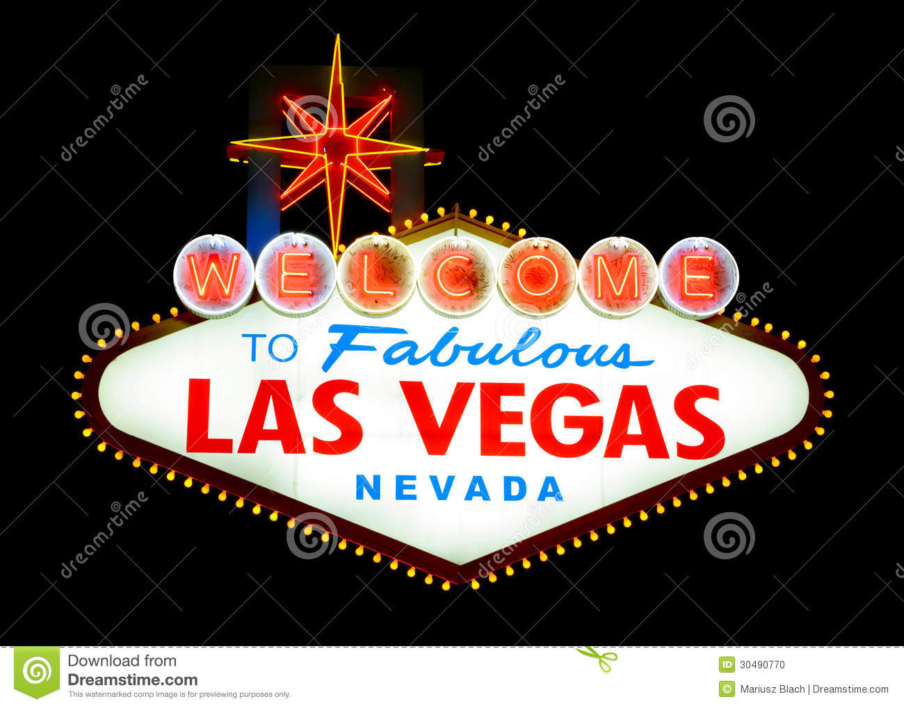 Stock footage welcome to fabulous las vegas sign with flashing lights - Editorial Stock Photo Download Welcome To Las Vegas