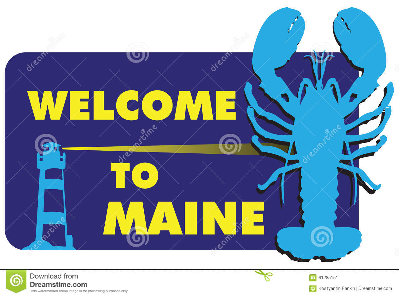 welcome to maine stock vector image 61285151 lobster clip art for email lobster clip art for email