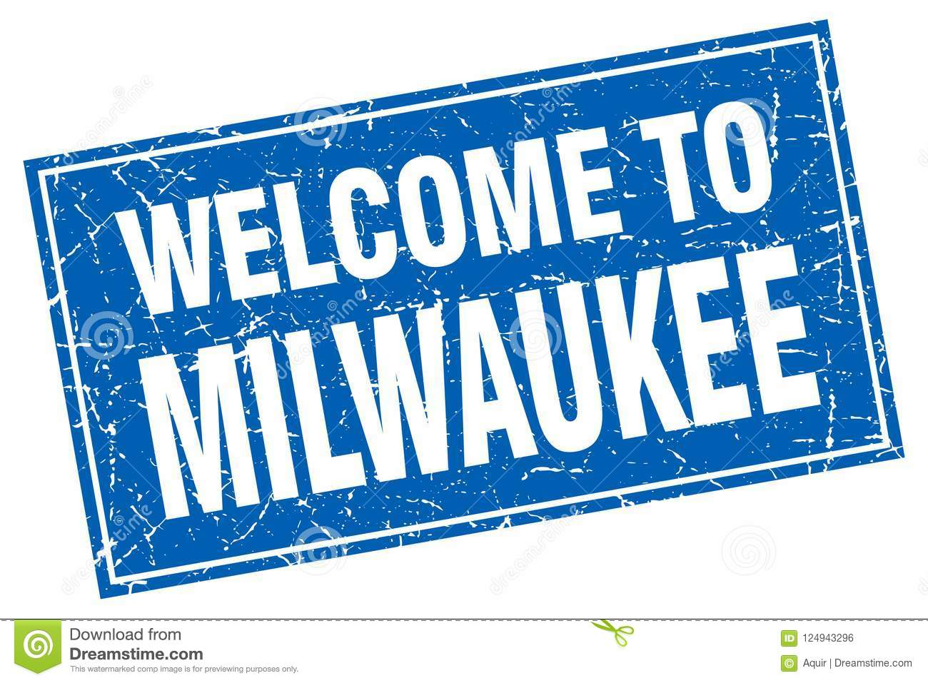 Welcome to milwaukee square grunge stamp milwaukee sign welcome to milwaukee