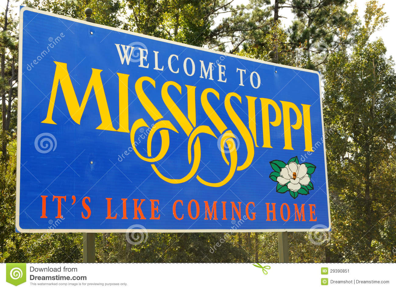 Welcome To Mississippi Stock Image - Image: 29390851