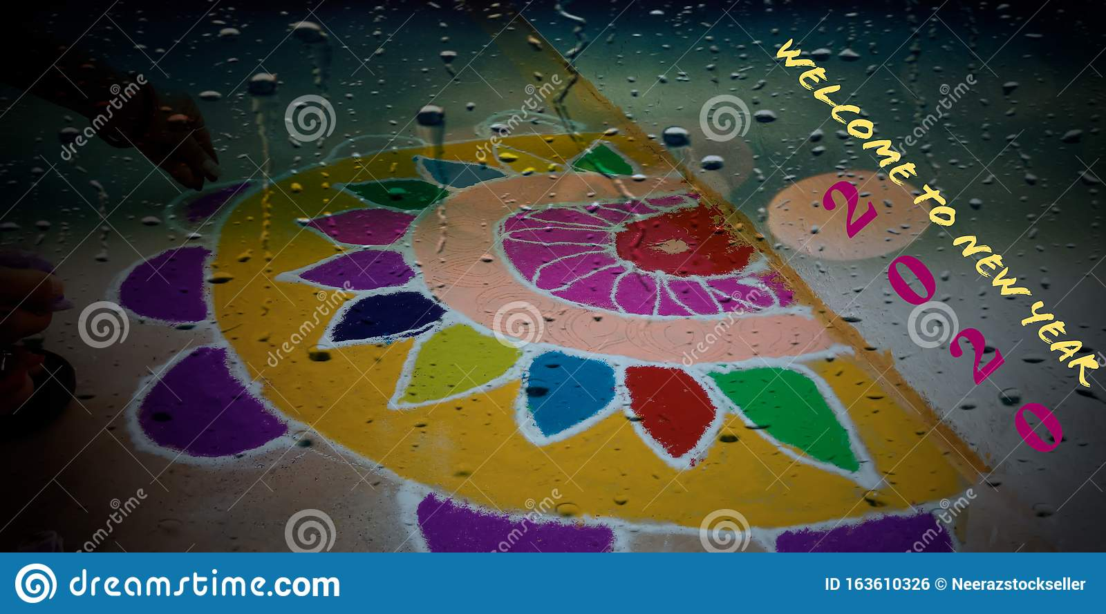 welcome to new year 2020 words presented with rangoli design art water drops abstract stock illustration illustration of concept 2020 163610326 https www dreamstime com welcome to new year words presented rangoli design art water drops abstract festival celebrate indian religious detail coming image163610326
