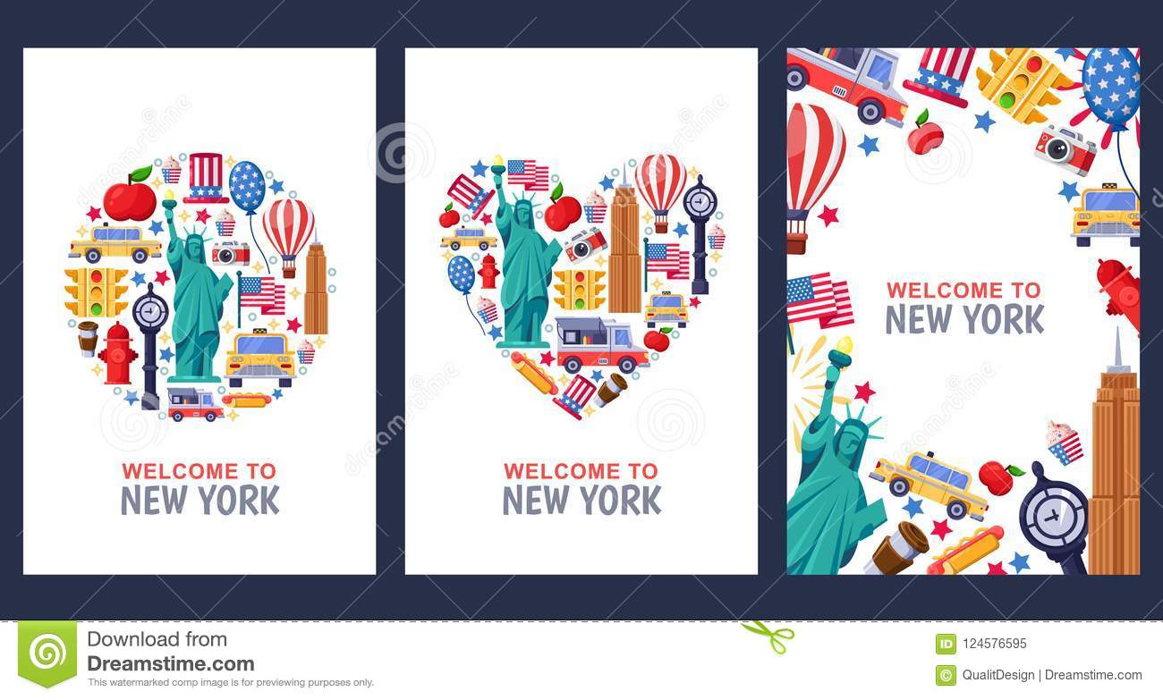 Welcome to new york greeting souvenir cards print or poster design download welcome to new york greeting souvenir cards print or poster design template travel m4hsunfo