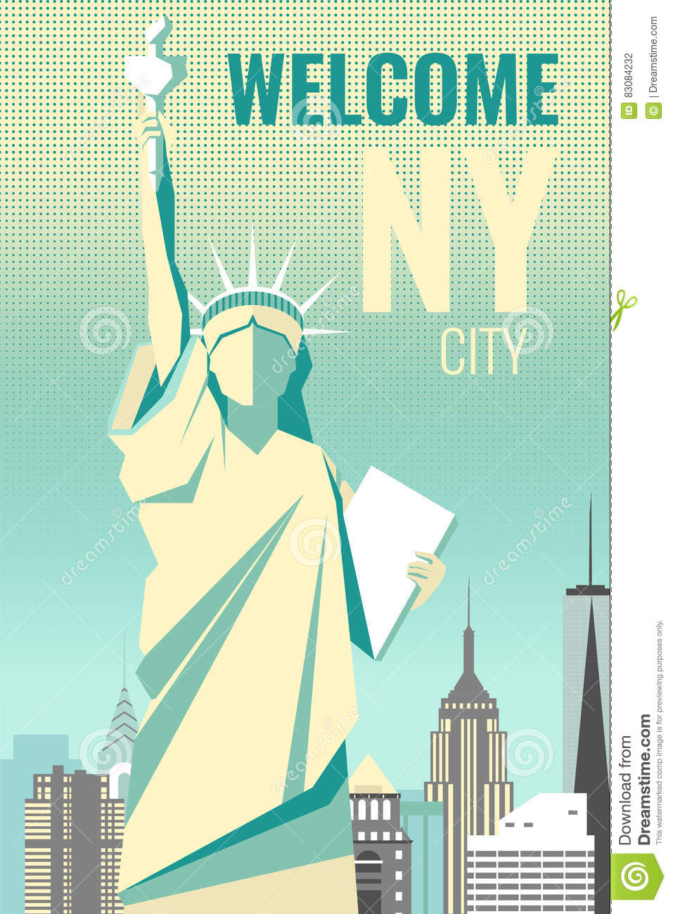 Download Welcome To New York Poster Retro Design Stock Vector