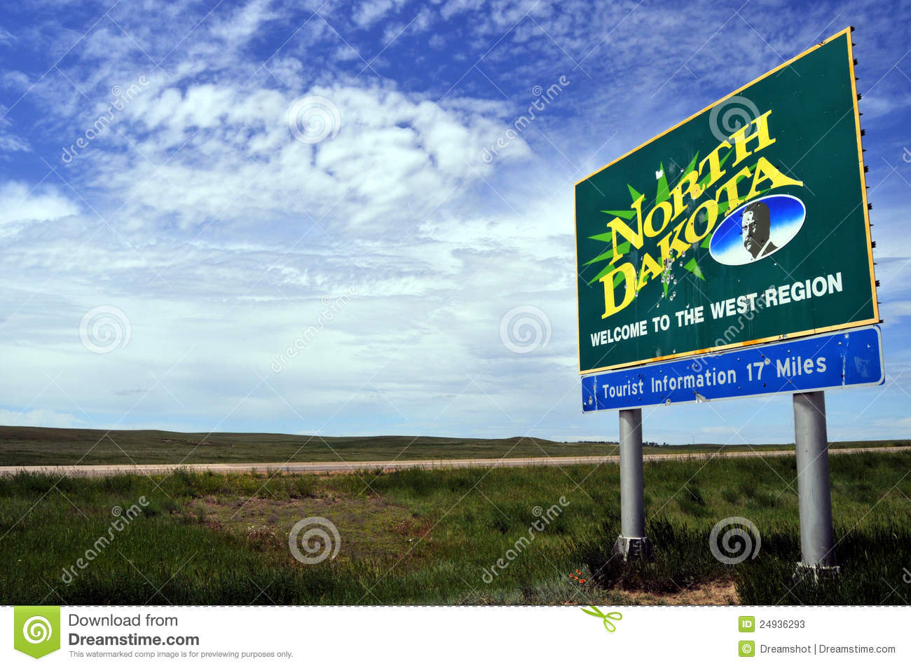 Wel e To North Dakota Stock s Image