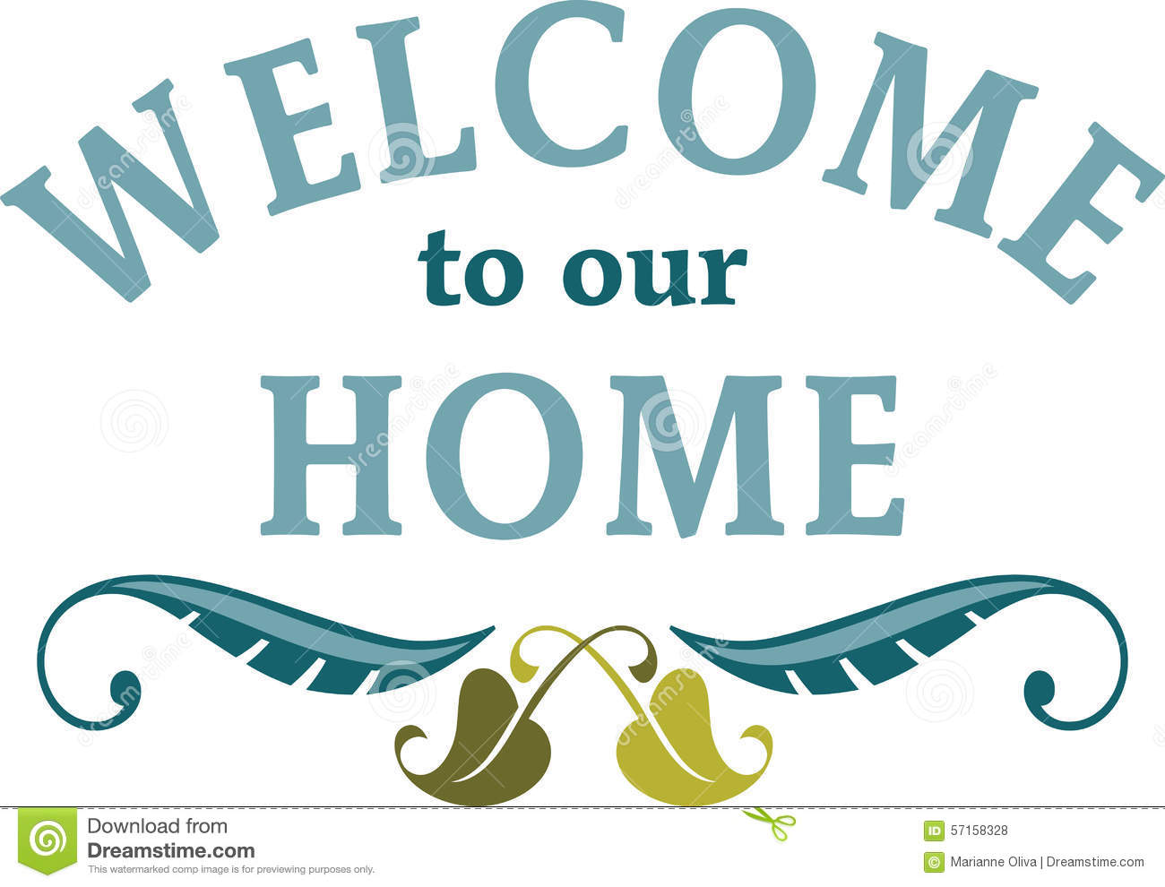 Welcome To Our Home Stock Photo - Image: 57158328