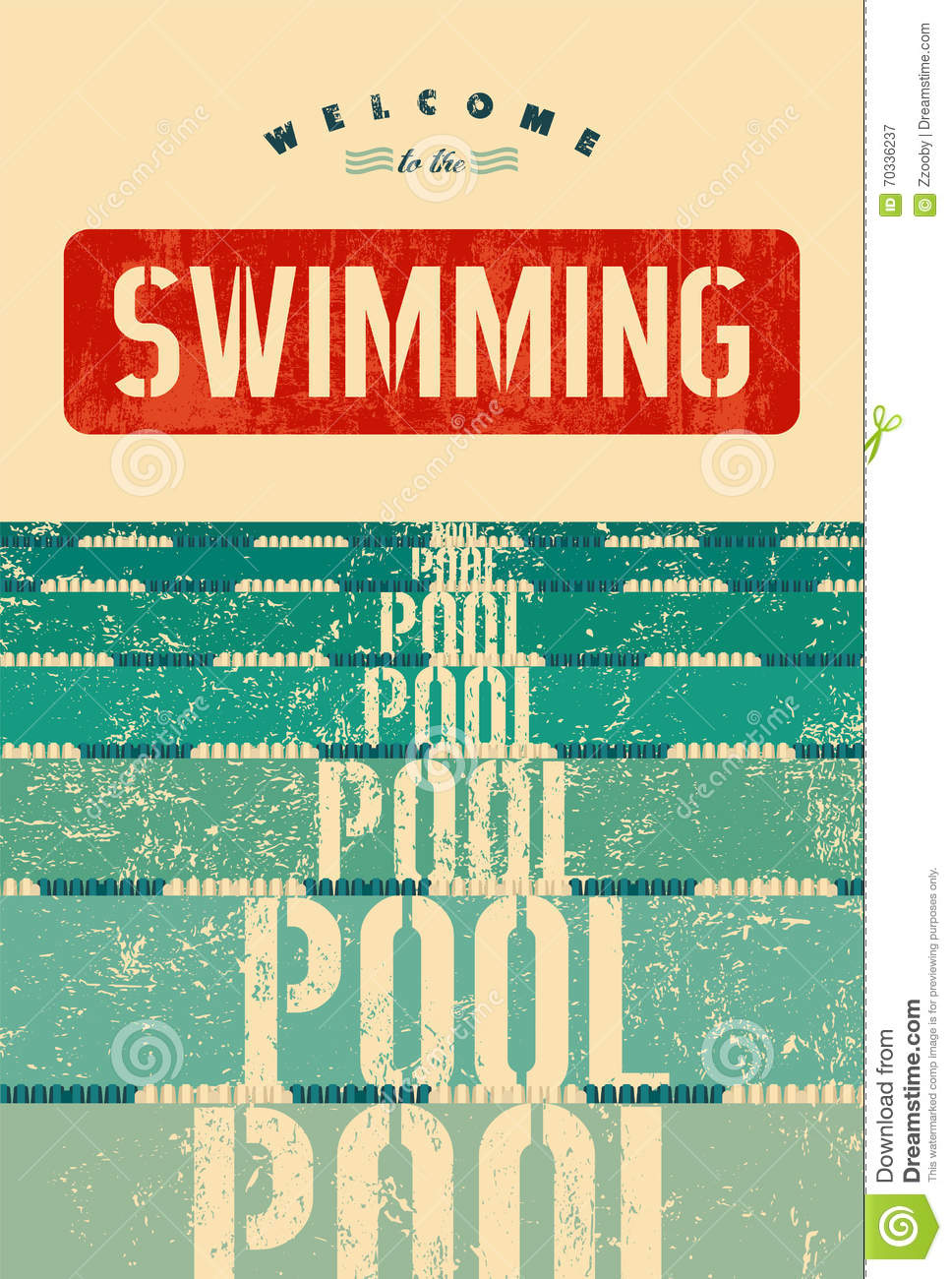 Vintage swimming posters