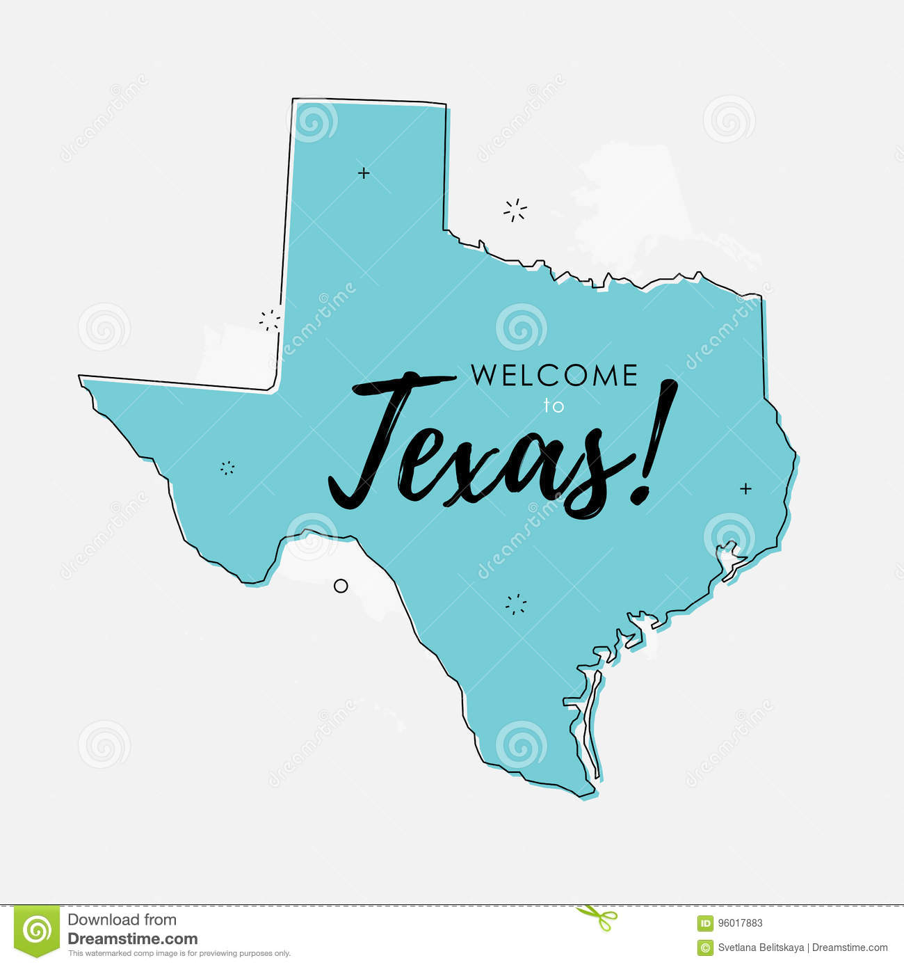 Flat Us Map.Welcome To Texas Stock Illustration Illustration Of Nation 96017883