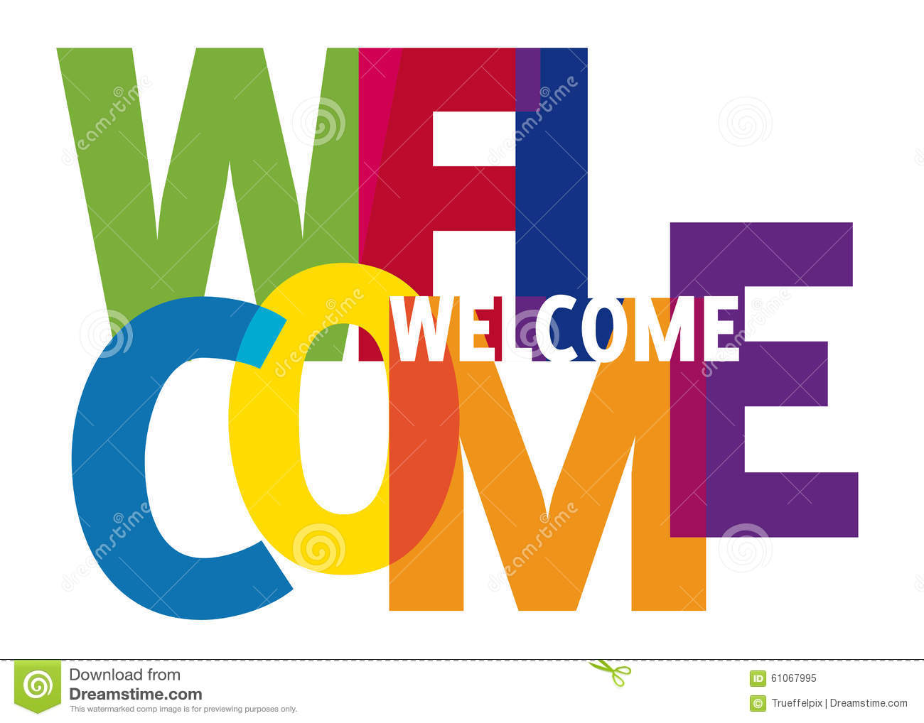 Welcome Word Stock Illustration