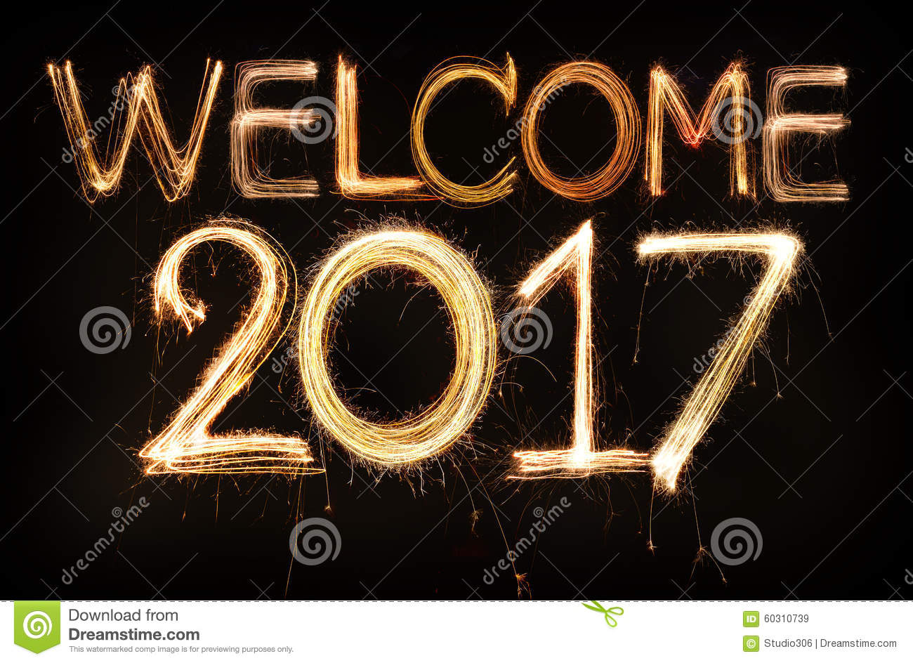 Welcome 2017 Stock Photo - Image: 60310739