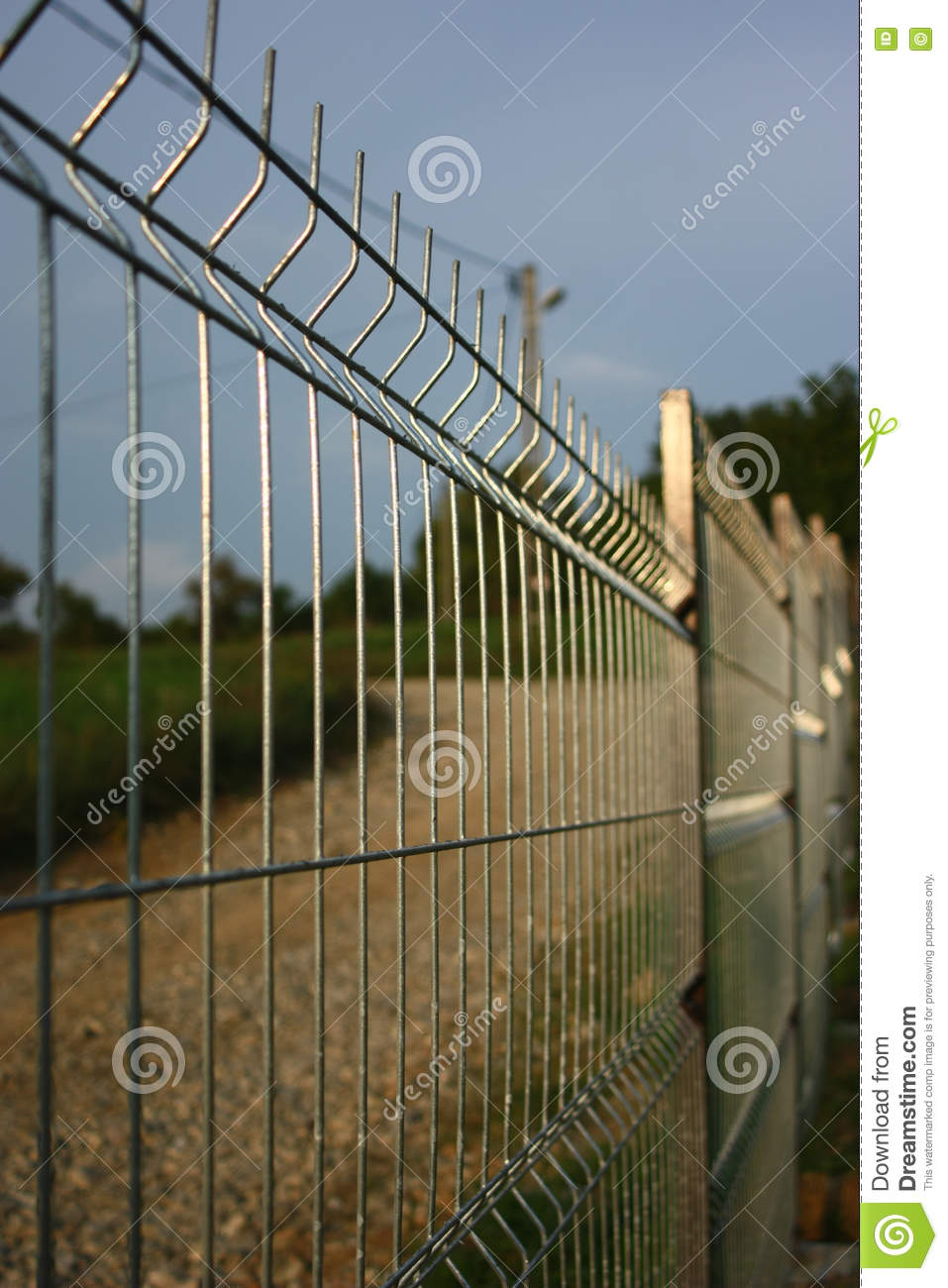 Welded Wire Fence. Stock Photo - Image: 80895670