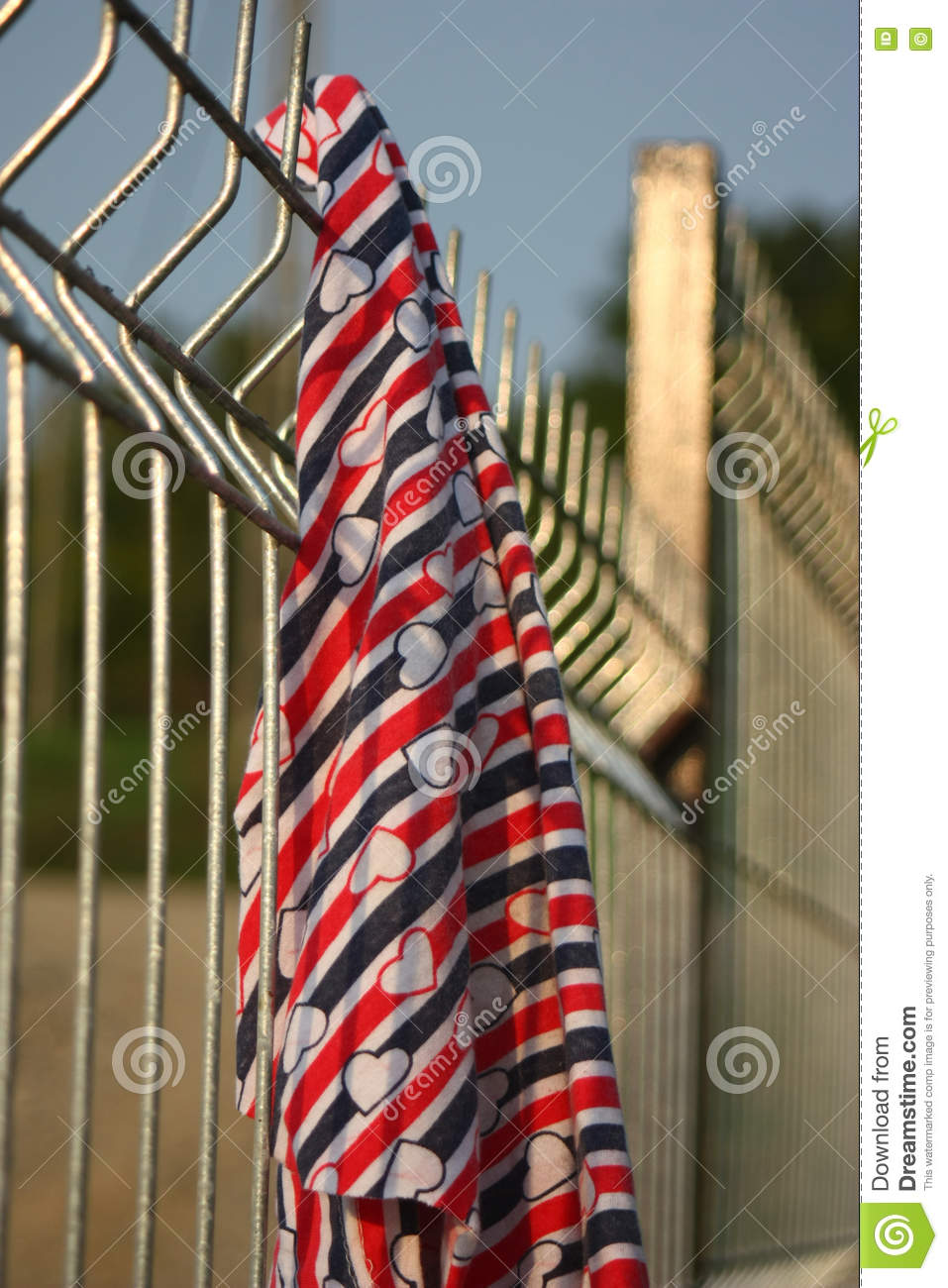Welded Wire Fence. Stock Photo - Image: 80894791