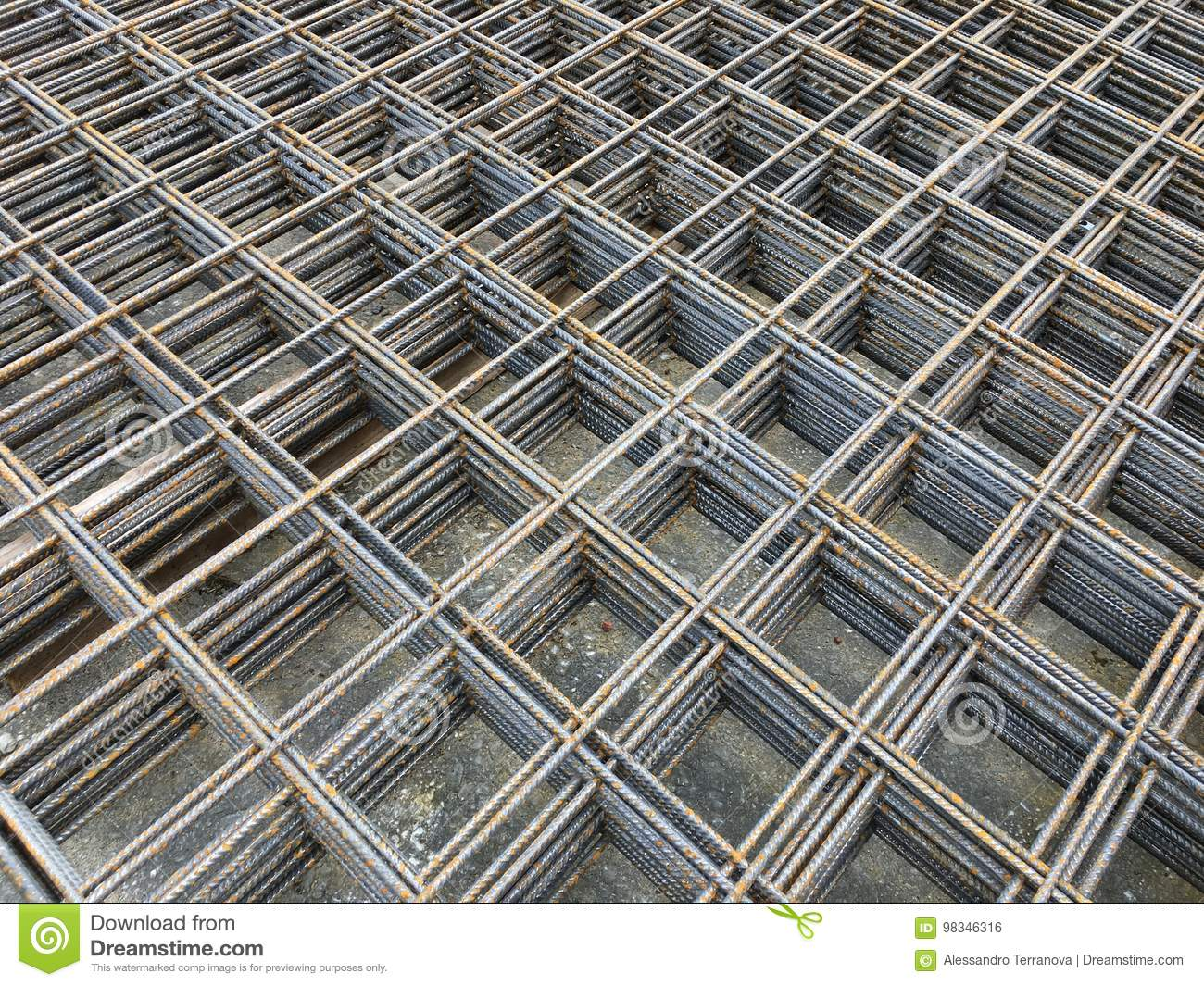 Welded Wire Mesh stock photo. Image of based, concrete - 98346316