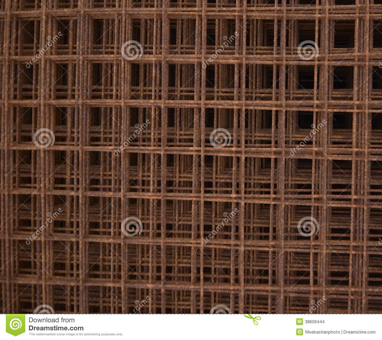 Welded wire fabric (WWF) stock image. Image of rust, industry - 29156177