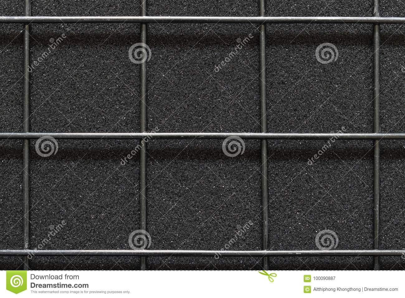 Welded Wire Mesh On The Texture Of Material Rough Black