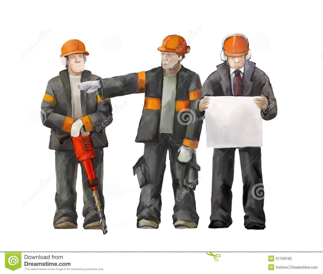 Welder, Electrician And Project Manager. Builders Working ...
